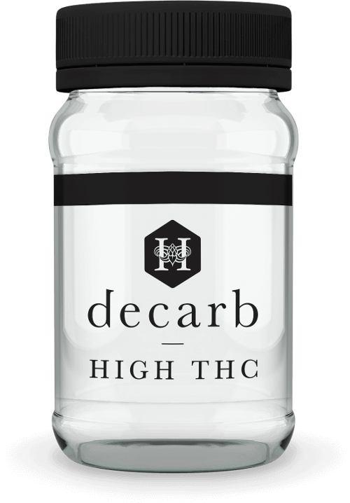 Hydropothecary Decarb Milled High THC Medical Marijuana Jar